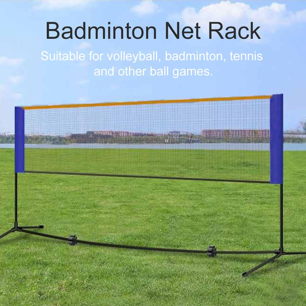 Portable Badminton Volleyball Tennis Net Badminton Net Stand With Stand/Frame Carry Bag