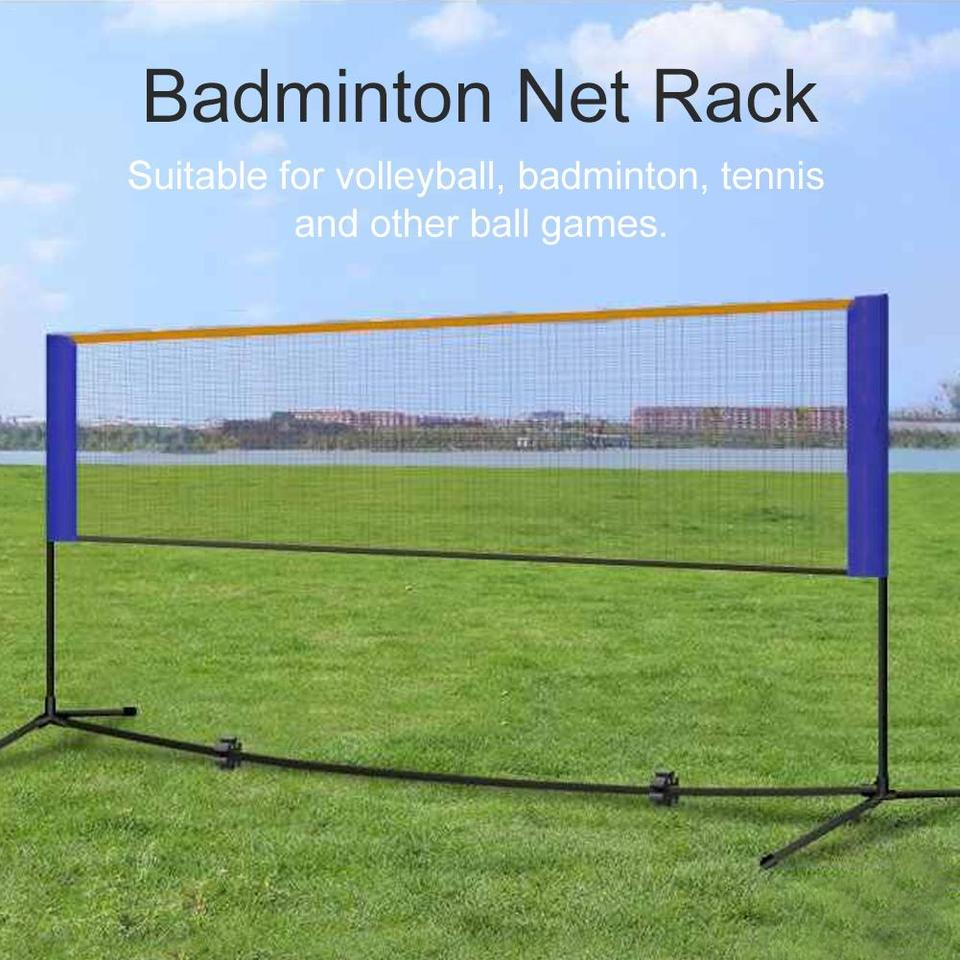 Portable Badminton Volleyball Tennis Net Badminton Net Stand With Stand Frame Carry Bag Badminton Accessories Equipment Aliexpress