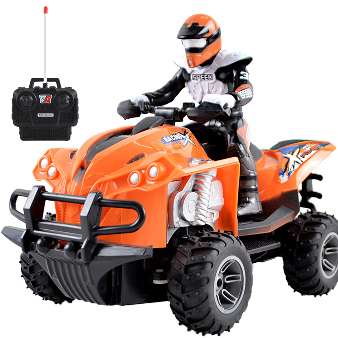 Children Boys Toy Remote Control Toys Motocross Boy Girl Four-wheeled RC Motorcycle Cool Toy Car Toys & Hobbies EU Plug Orange