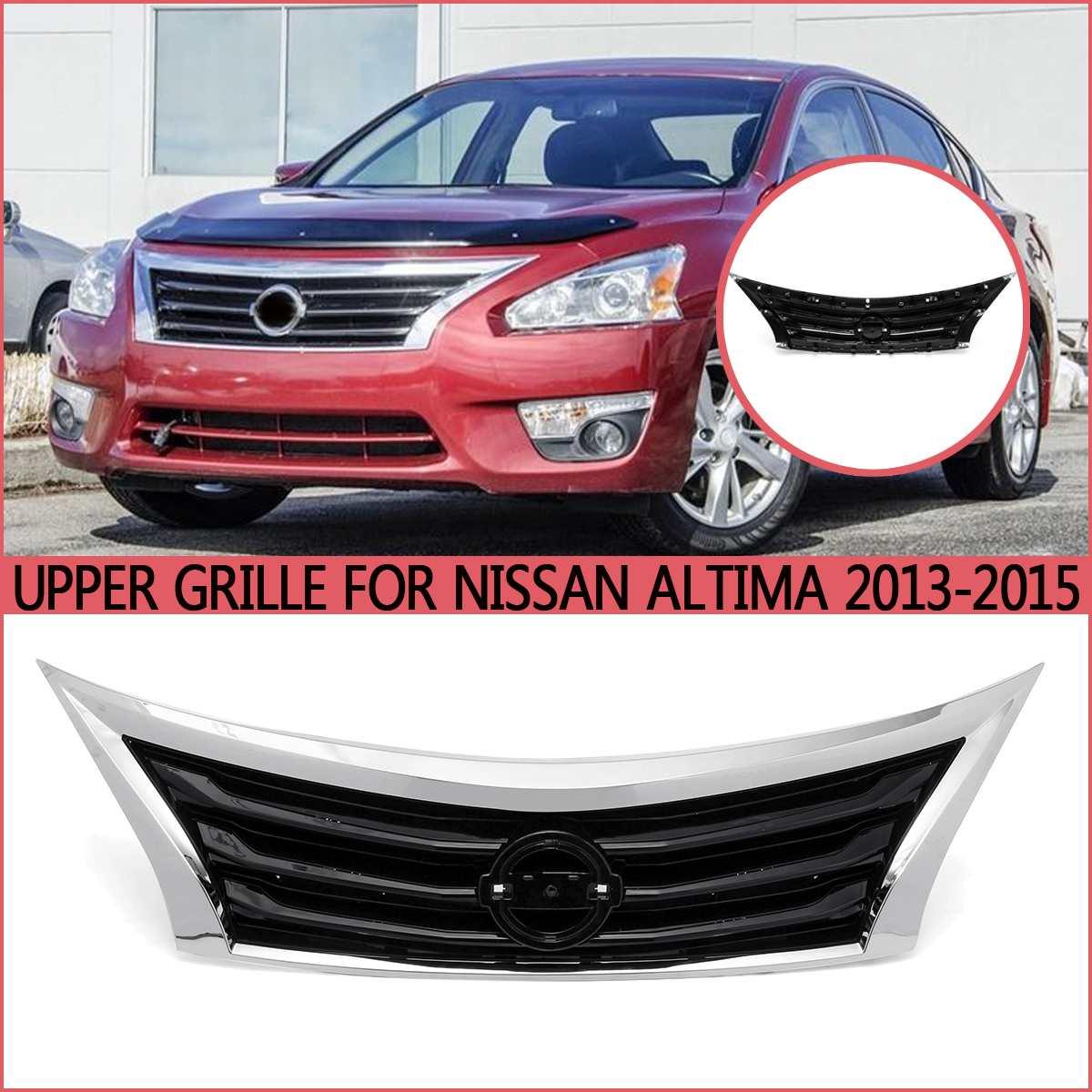 Chrome voiture Grille avant maille pare-chocs Grille inférieure radiateur grilles cadre garniture pour Nissan Altima 2013 2014 2015 pièces de rechange