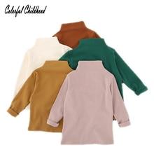 Блузка для малышей, мягкая белая рубашка из чистого хлопка с цветочным принтом и воротником средней длины с длинными рукавами для маленьких девочек, базовая приталенная блуза, одежда, 12 мес.-5 лет