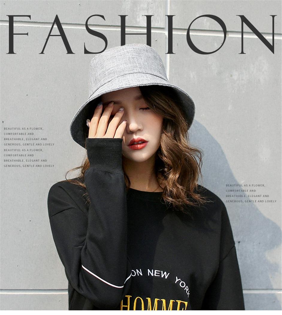 Women Korean Flower Bucket Hat Cotton Linen Sun Caps Visor Summer Outdoor Anti-uv Folding Fishing Hats Female Fisherman Cap Apparel Accessories