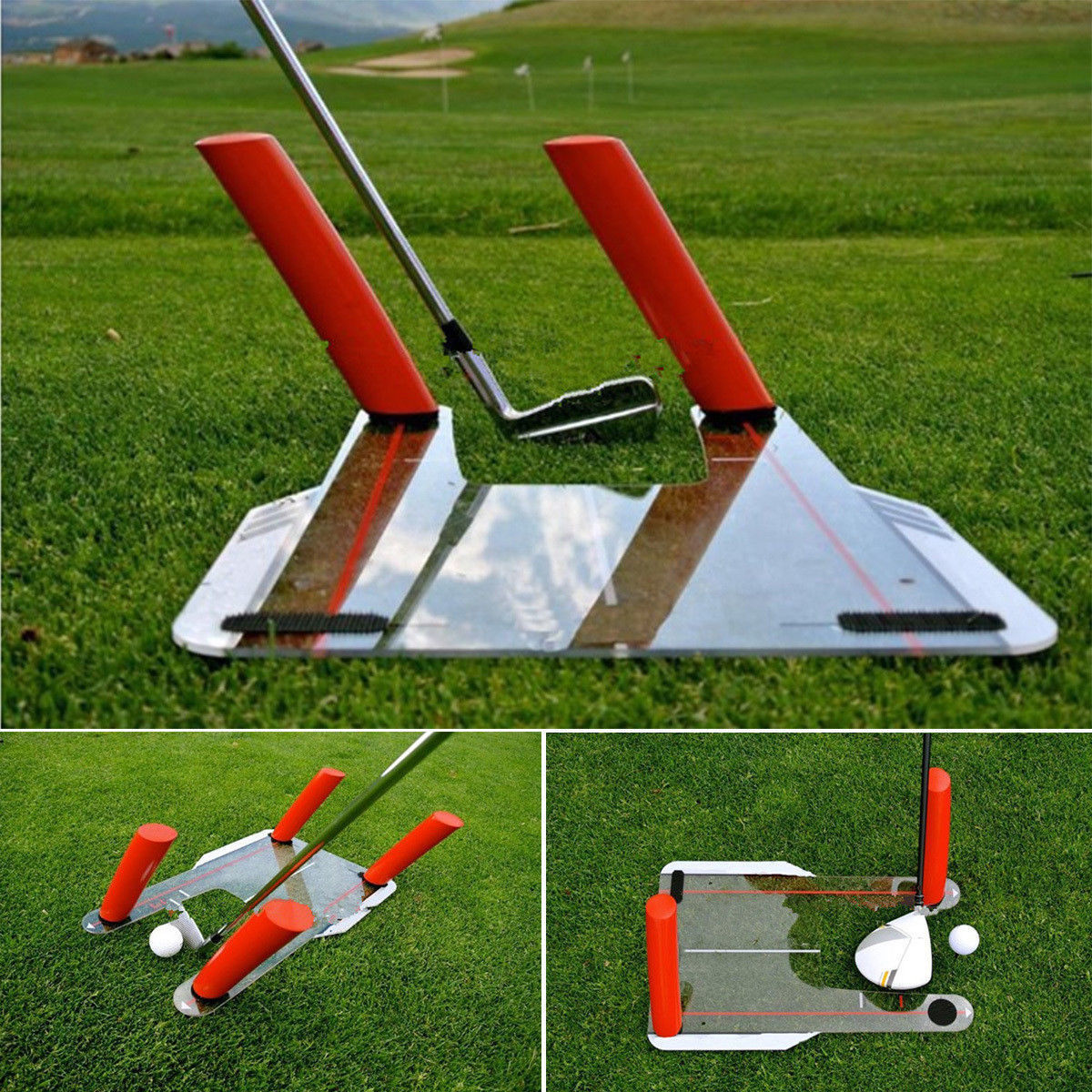 PC Golf Alignment Trainer Aid Swing Training Speed Trap Practice Base 4 Speed Golf Accessories Tool