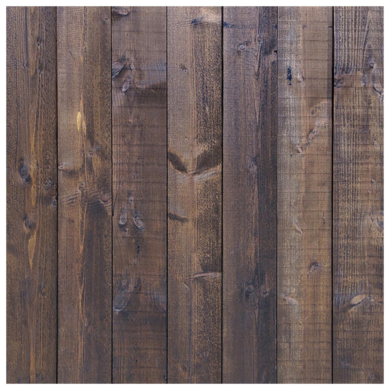 JABS 3x5ft Photography Studio Background Vinyl Backdrop Deep Dark Brown wood plate