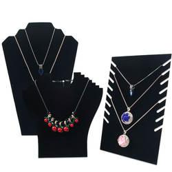 Черный бархатный мольберт стойка композитная доска держатель ювелирных изделий Ожерелье Бюст ювелирные изделия кулон ожерелье браслет