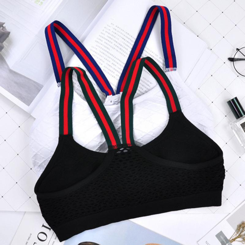 Women Sport Bra   Tank     Top   Sleeveless Fitness Black Vest One Size Short Vest Bottom   Tops   Beauty Back Sling Bra Underwear Sexy Bra