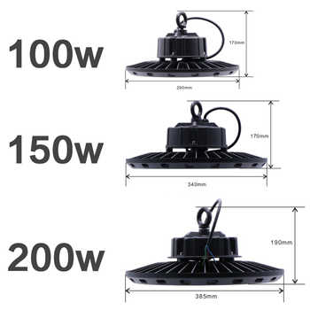 garage light workshop lamp circular lights on the field 200w high bay luminaria industrial construction lamp ufo led work light