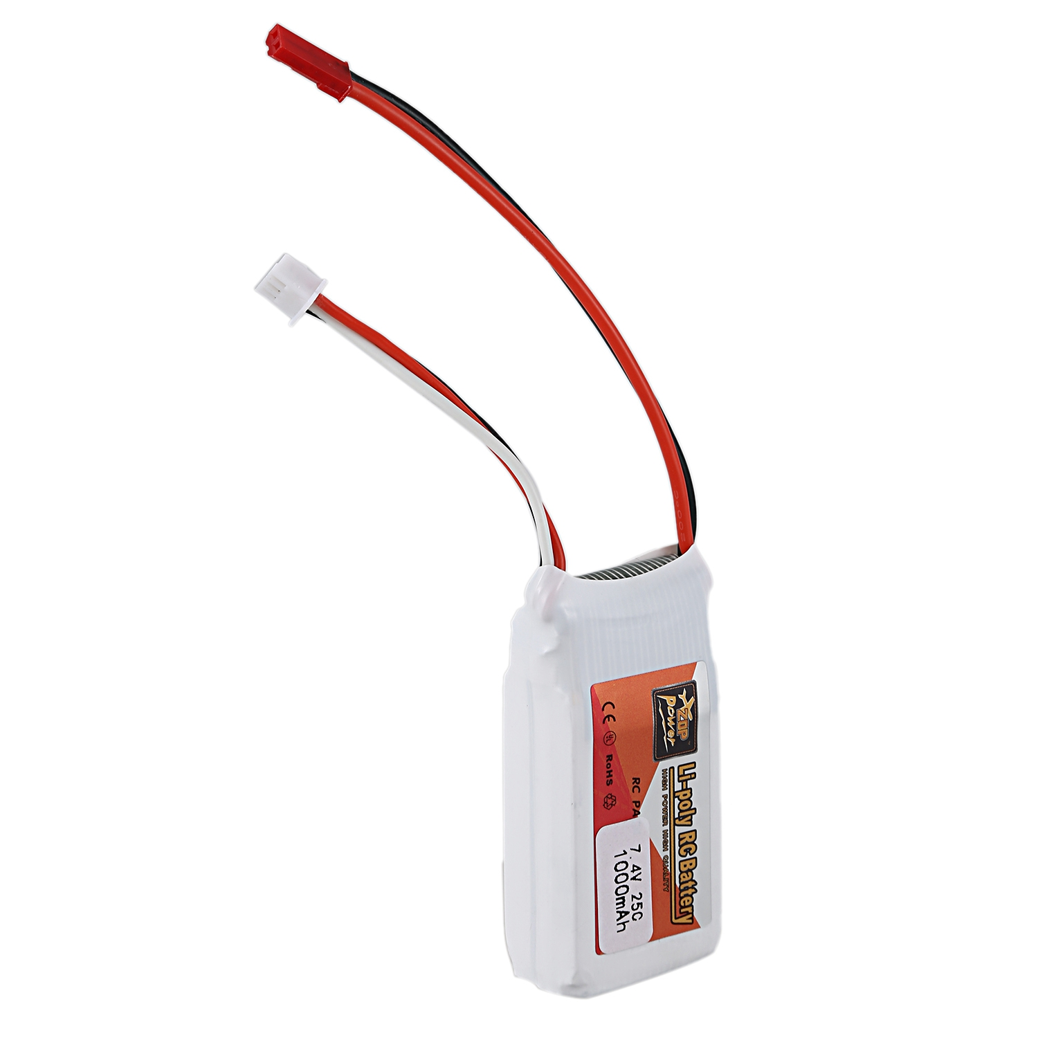 ZOP POWER Rechargeable 7.4V <font><b>1000Mah</b></font> <font><b>2S</b></font> 25C <font><b>Lipo</b></font> Battery Jst Plug Connector For Rc Drone Fpv Quadcopter Diy Toys Spare Parts image