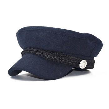 d5ad80c3a520 Hombres Mujeres invierno griego pescador Sailor Cap Fiddler sombrero pico  gorra deportiva