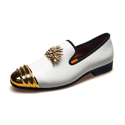 Classique Noir Nouveau Simple Non Chaussures orange Robe Hommes De Partie Meijiana Casual slip Mocassins blanc bleu v8SHwn07