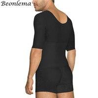 Beonlema Hombre Butt Lifter Shaper Body Modeling Shapwear Men Bellies Shaping Underwear Open Crotch Heren Bodysuit S 6XL