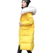Hooded Fur Collar Winter Down Coat Jacket Long Thick Warm Women Casaco Feminino Abrigos Mujer Invierno Student Wadded Parkas 248 цены онлайн