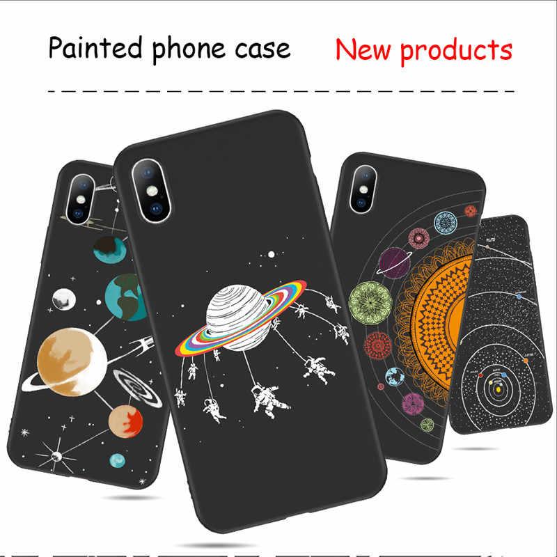 Gтвин воздушное пространство планеты черно-белое Солнце Луна Звезды Чехол для iPhone 6 6S 7 8 Plus для iPhone X XR XS Max 5 5S SE чехол