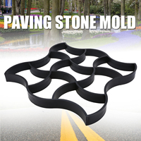 1pc DIY Plastic Path Maker Mold Manually Paving Cement Brick Molds Stone Road Concrete Molds for Garden Home Pavement 490*490mm