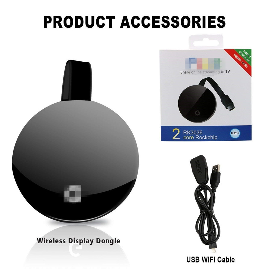 WiFi HDMI Display 1080 p Mini TV Receiver Adapter Ondersteuning YouTube Miracast Airplay DLNA Projector voor Android/Mac/ iOS/Windows