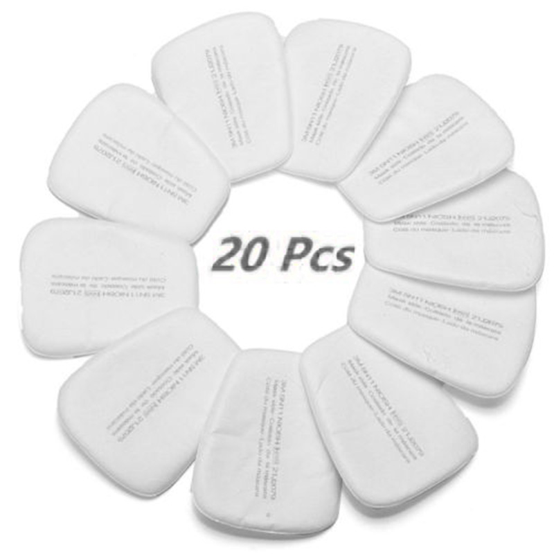20Pcs 3M 5N11 Particulate Filter Respirator Cotton Gas Mask 6200 High Quality