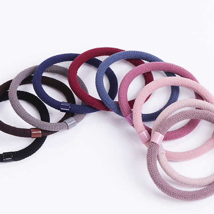 Elastic Hair Band For Women Solid Casual Rubber Band For Girls Ponytail Holder Hair Rope Thick Hair Ring Highly Stretchable