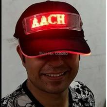33ec3e3a03d Personality Customized LOGO Flashing DJ Hats Programmable Women Girls Men  Boy Light Up LED Hip Hop