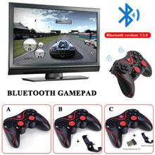 For T3 S3 S5 PS3 Bluetooth Wireless Gamepad Android S600 STB S3VR Games Controller New Joystick For Android iOS Mobile Phones PC wireless gamepads bluetooth one key connection gamepad rocker pubg games controller joystick for android ios iphone smart phones