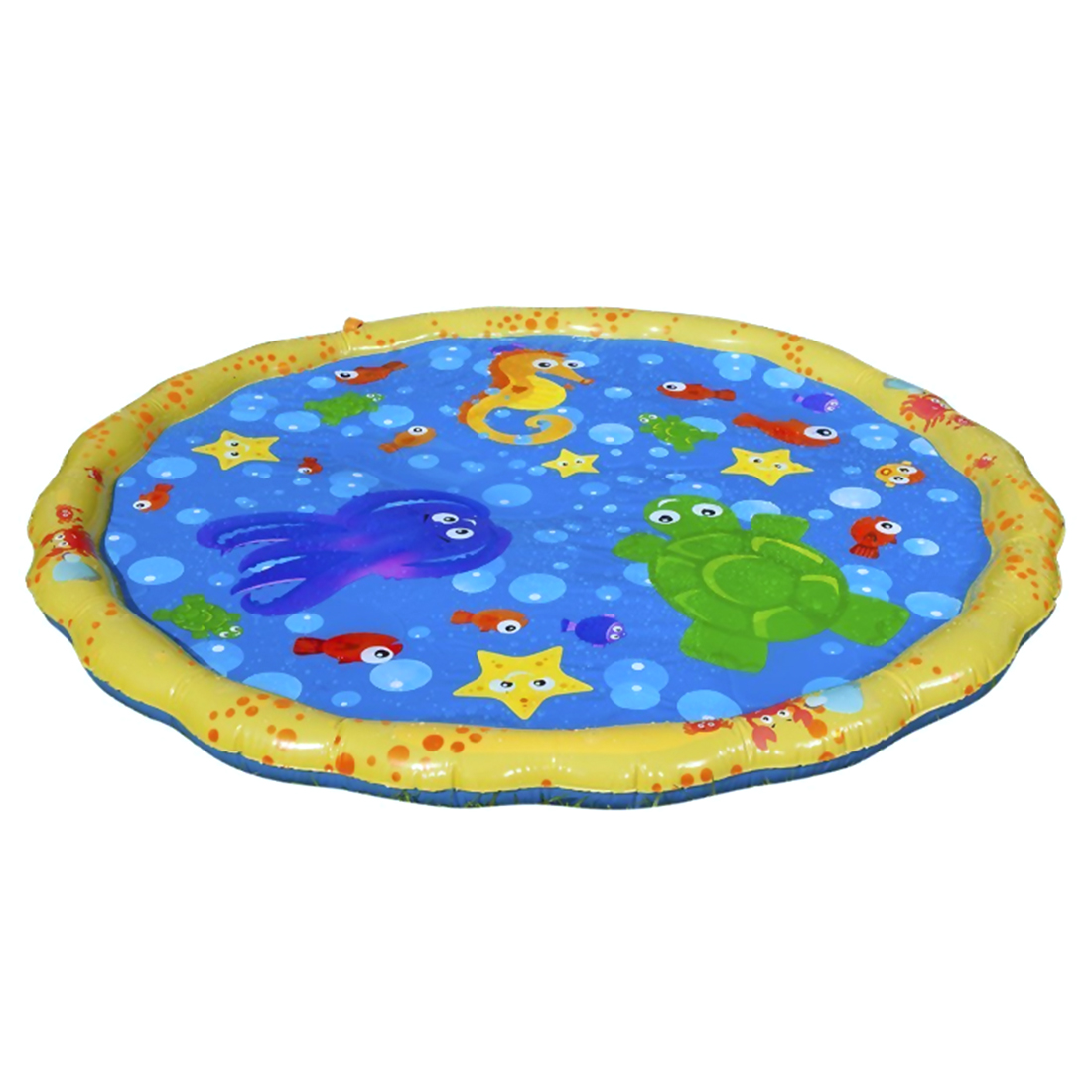 Children'S Fun 100cm Round Inflatable Baby Pad Water Mat Patted Play Cushion For Infant Baby Water Pad Baby Belly Time Game Pad