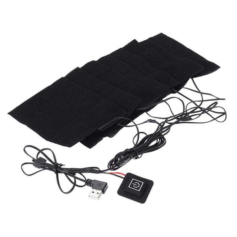 8-in-1 USB Electric Clothes Heating Pad Carbon Fiber Heated Clothes Pad With Adjustable Third Gear Mat Sheet Heater
