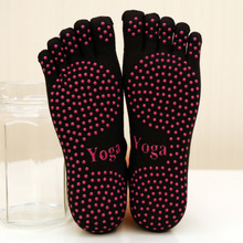 New Good Price Women Cotton Yoga Socks Ladies Sport Pilates Ballet Dance Five Fingers Silicone Dots Non-slip