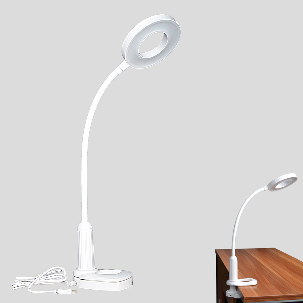 6000mAh Led Clip & Stand Desk Lamp Touch Switch Dimmer Rechargeable USB LED Table Lamps Eye Protection Study Reading Light