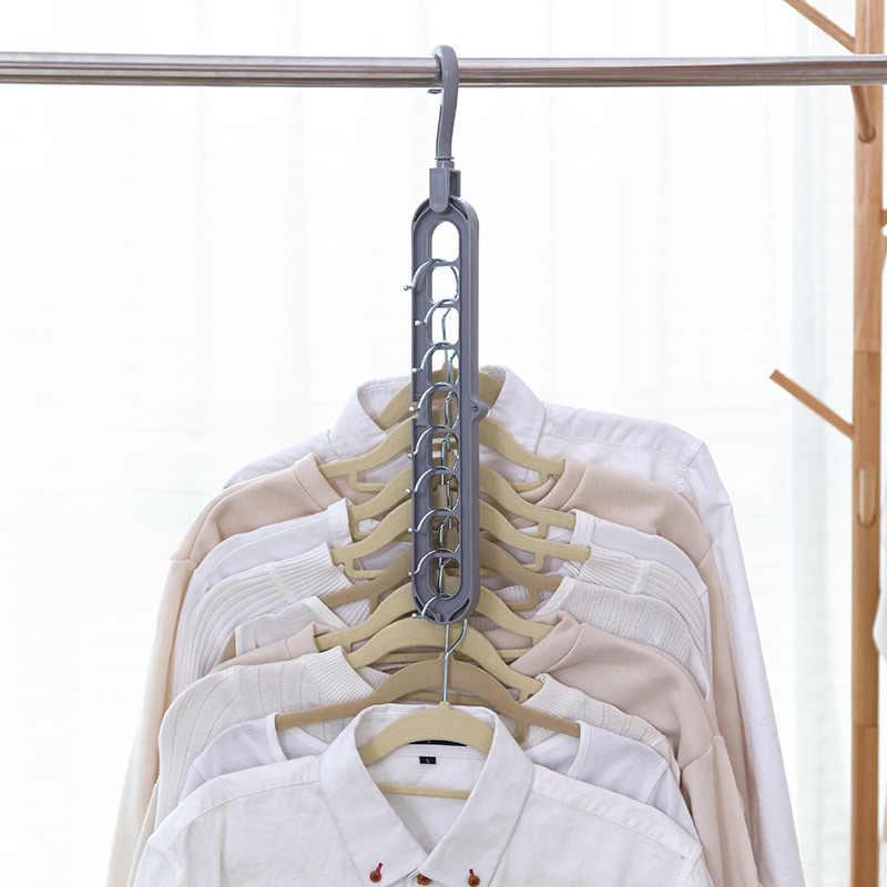 Venda quente 9 Buraco de Plástico Cabides de Lavanderia de Secagem Racks Multifunções Quarto Peito Roupas Gancho Clips Novo Design