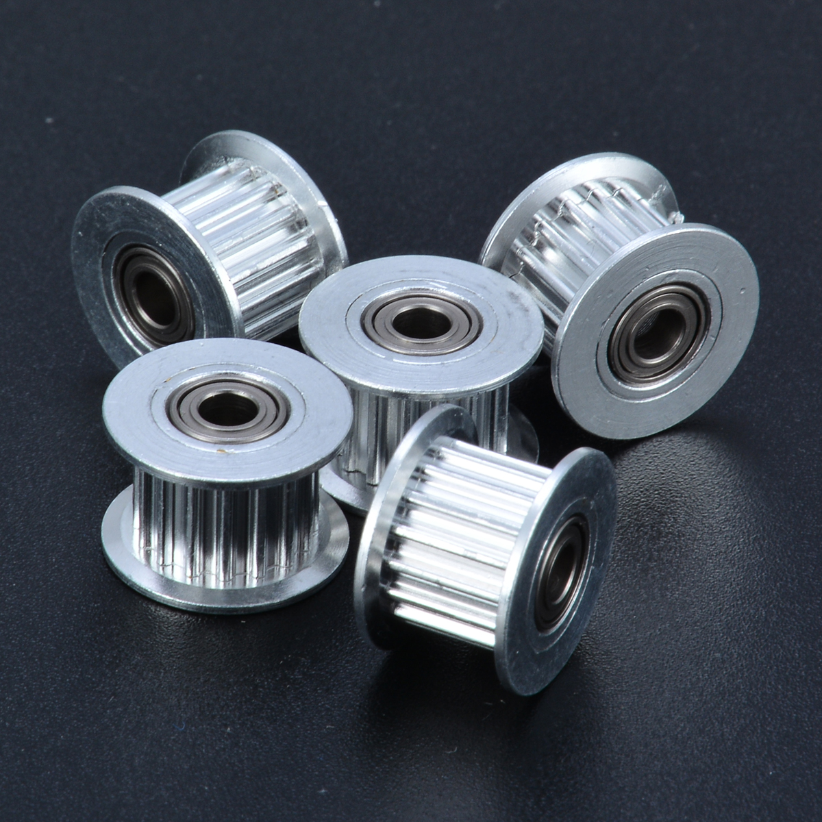 5pcs 3D Printer Timing Pulley Belt GT2 16T Timing Pulley 3mm Bore Bearing 6mm Belt For 3D Printer Accessory