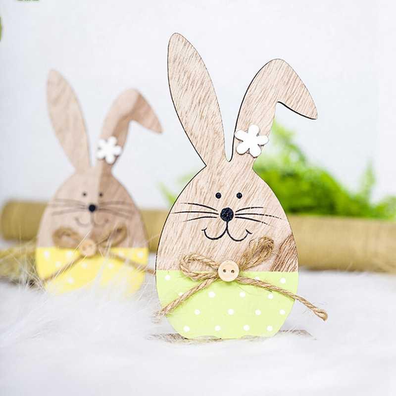 Деревянная Пасхальная подставка для яиц на пасхальные вечерние украшения Diy Кролик письмо яичная подставка стойка Кролик шаблон пасхальное украшение для дома