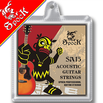 Spock SA15 Coated Copper Acoustic Guitar Strings Coated Copper Alloy Wound Stainless Steel Core 010-047 inch image