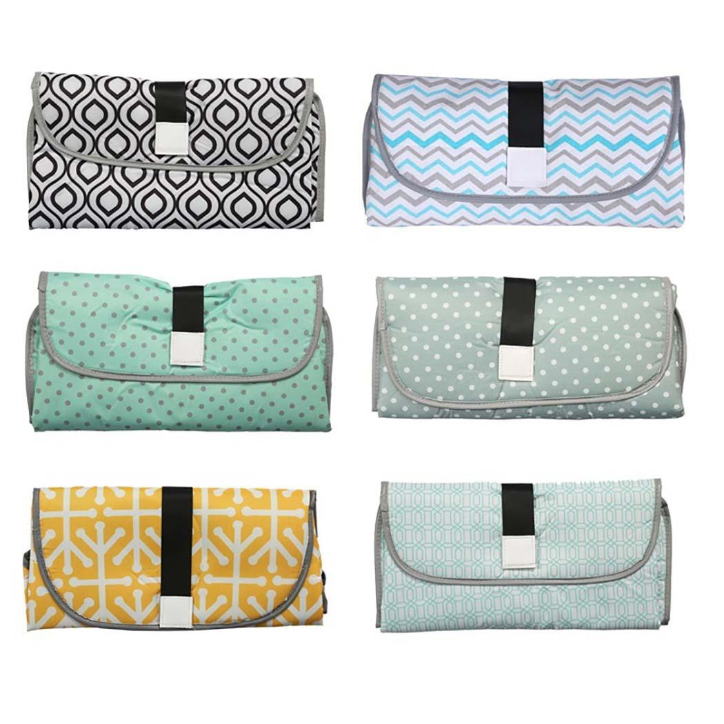 Portable Diaper Changing Pad Clutch With Barrier For Newborn Foldable Clean Hands Changing Station Soft Flexible Travel Mat