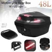 Mallette de rangement universelle pour bagages à queue de Scooter moto 48L avec lumière LED 56cm x 40cm x 37cm