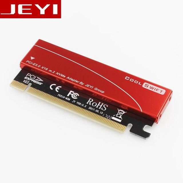 JEYI genial Swift NVME M.2 X16 PCI-e a prueba de polvo Riser Card 2280 hoja de aluminio barra de oro de la conductividad térmica del núcleo de silicio oblea de refrigeración