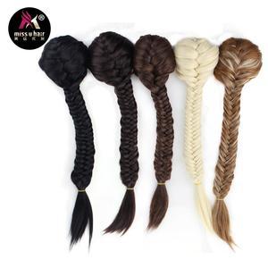 Женские синтетические длинные прямые волосы Miss U, прямые волосы на клипсе В хвостике 22 дюйма 55 см, можно поглаживать