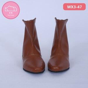 Image 5 - Ayakkabı bebek BJD kahverengi PU deri moda Mini oyuncak erkek erkek ayakkabıları 1/3 bebek için IP Hid ID72 bebek aksesuarları luodoll