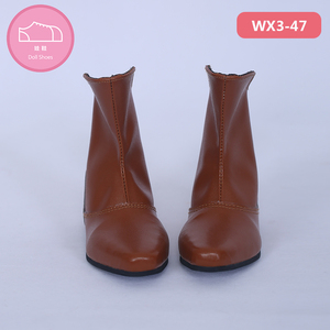 Image 5 - Shoes For Doll BJD  Brown PU Leather Fashion Mini Toy Boys Man Shoes 1/3 Doll for IP Hid ID72 Doll Accessories  luodoll