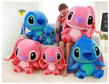 цены Kawaii 35/45cm Big Stitch Lilo Plush Toys Doll Stich Lilo Anime Soft Animals Stuffed Toys For Baby Kids Birthday Christmas Gifts