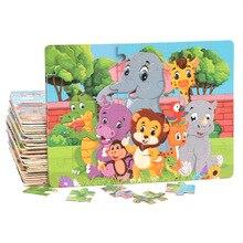 DDWE 60 шт. деревянные пазлы Игрушки Детские 3D головоломки мультфильм Животные детские развивающие игрушки для детей для обучения игры от 2 до 8 лет