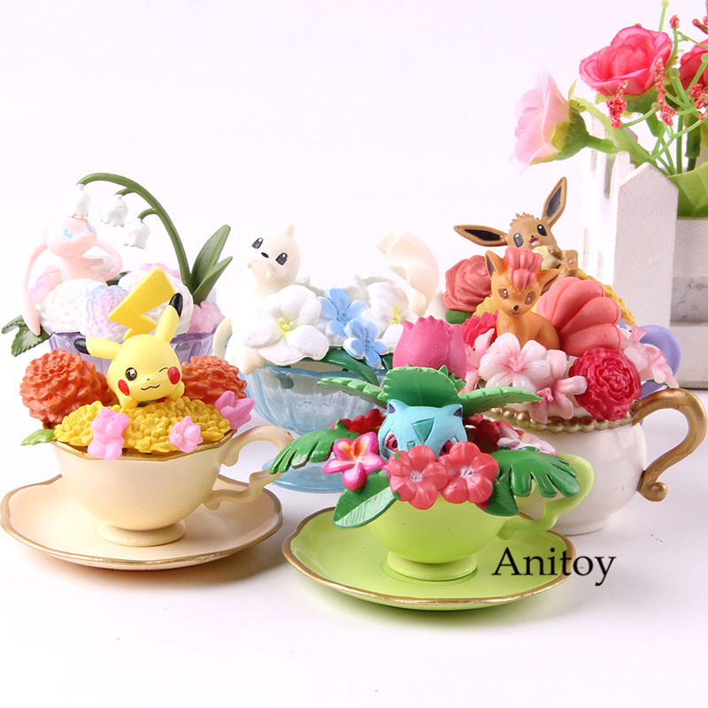 FLORAL CUP Action Figure Pikachu Bulbasaur Dewgong Eevee PVC Collection Model Toy Birthday Gift 6pcs/setFLORAL CUP Action Figure Pikachu Bulbasaur Dewgong Eevee PVC Collection Model Toy Birthday Gift 6pcs/set