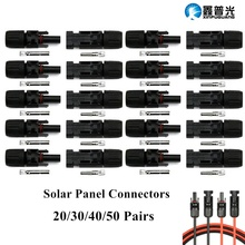Pack Seal / Panel Durable Solar Connectors of Cable Male 20/30/40/50 Connector Ring Pairs Female MC4