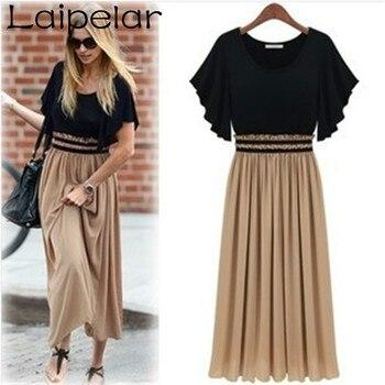 Laipelar 2020 New Summer Dress Waist Was Thin Chiffon Ankle-Length Long Elegant Maxi Vestidos