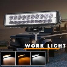 Новый 50 W Двойной Цвет белый/желтый светодиодный свет работы для автомобиля внедорожник противотуманная фара для грузовика лампы дневного светодиодный свет бар