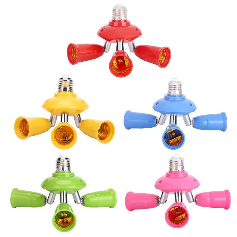 3 In 1 E27 To E27 Lamp Base Socket Splitter Adjustable LED Light Bulb Adapter Holder Light Extented Converter
