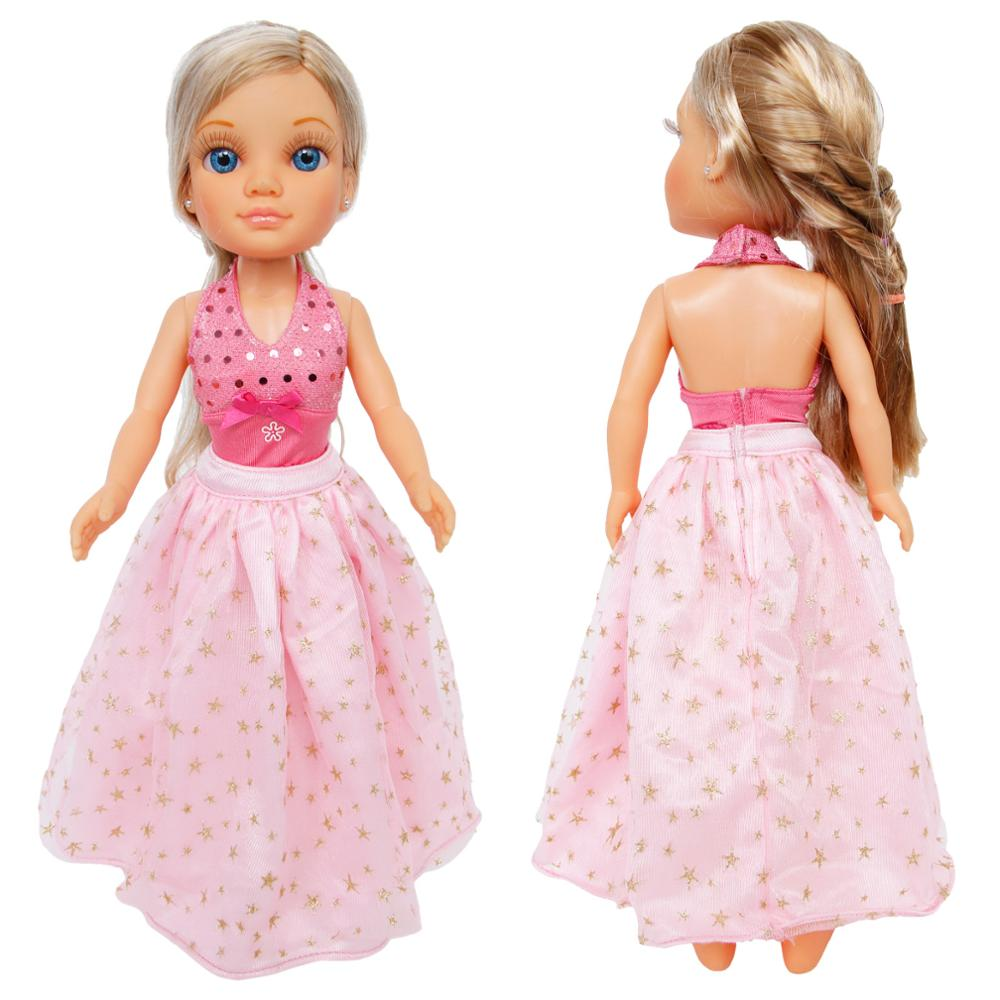 High Quality Wedding Party Wear Dress Sexy Backless Tops + Lace Pink Skirt Gown Clothes For Nancy Doll Accessories Xmas Kids ToyHigh Quality Wedding Party Wear Dress Sexy Backless Tops + Lace Pink Skirt Gown Clothes For Nancy Doll Accessories Xmas Kids Toy