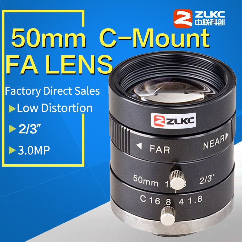 3.0MegaPixel C Mount 50mm 2/3 FA / Machine Vision fixed focal length lenses Industrial camera manual  Iris Lens3.0MegaPixel C Mount 50mm 2/3 FA / Machine Vision fixed focal length lenses Industrial camera manual  Iris Lens