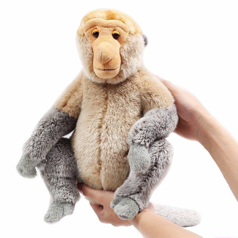 Muñeca de peluche de año de Turismo de Malasia Proboscis mono mascota Nasalis Larvatus mono de juguete de felpa muñeca de dibujos animados grande
