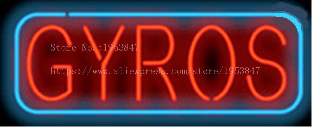Gyros néon signe jeu jouet réel verre Tube bière PUB Restaurant enseigne affichage décorer magasin décor à la maison lumière signes 17*14