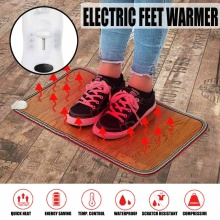 Electric Heating Pad Winter Warmer Mat Thermal Foot Feet Heater Heated Floor Carpet Mat Pad Home Office Warm Feet