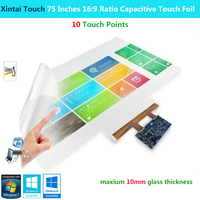 Xintai Touch 75 Inches 16:9 Ratio 10 Touch Points Interactive Capacitive Multi Touch Foil Film Plug & Play